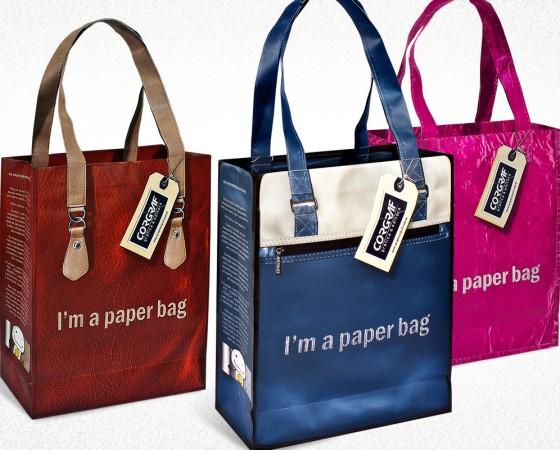 """Sacolas """" I'm a paper bag"""" #1"""