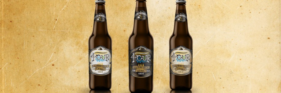 Cerveja 4our, rótulo e identidade