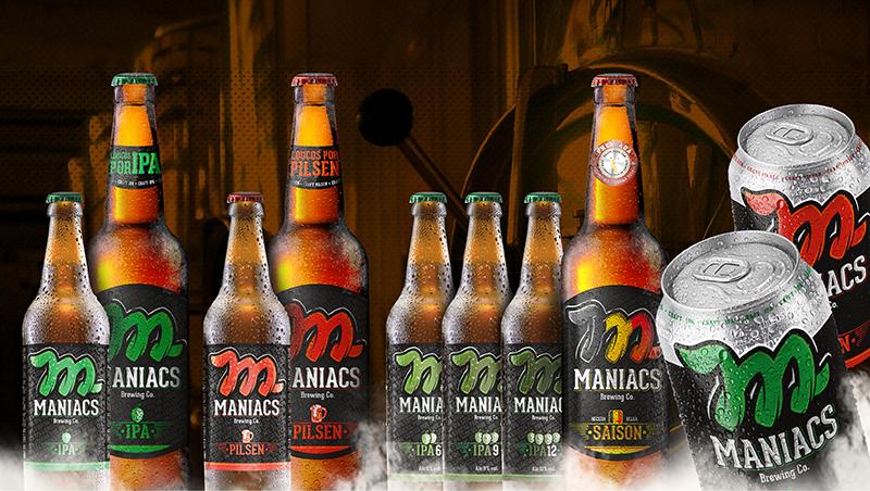 Linha de cervejas Maniacs Brewing Co.