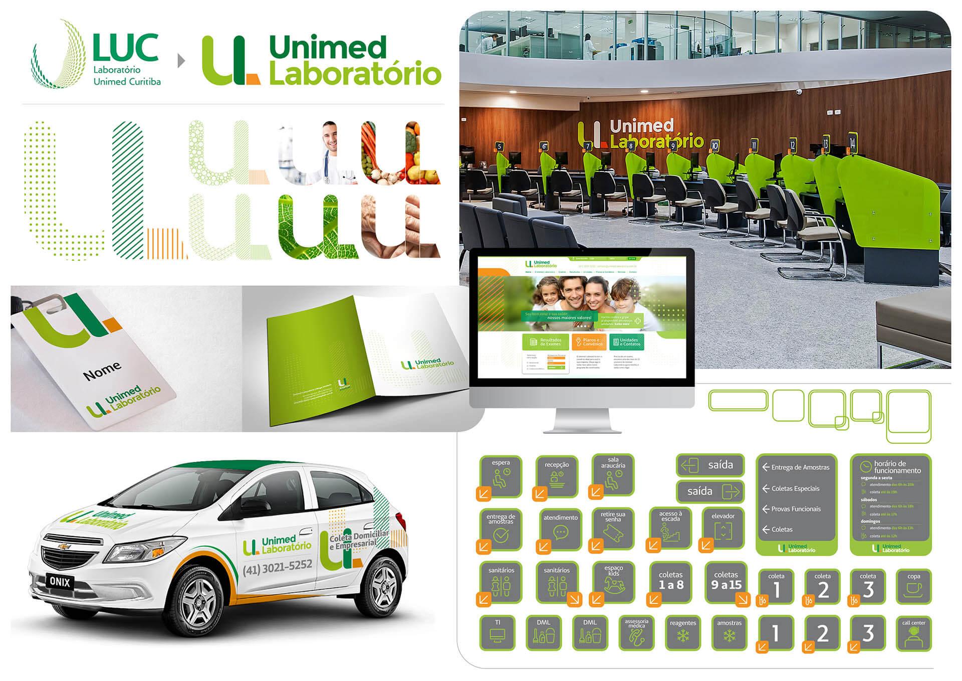 Unimed Lab - Pontodesign - Sinalização, identidade, ambientação