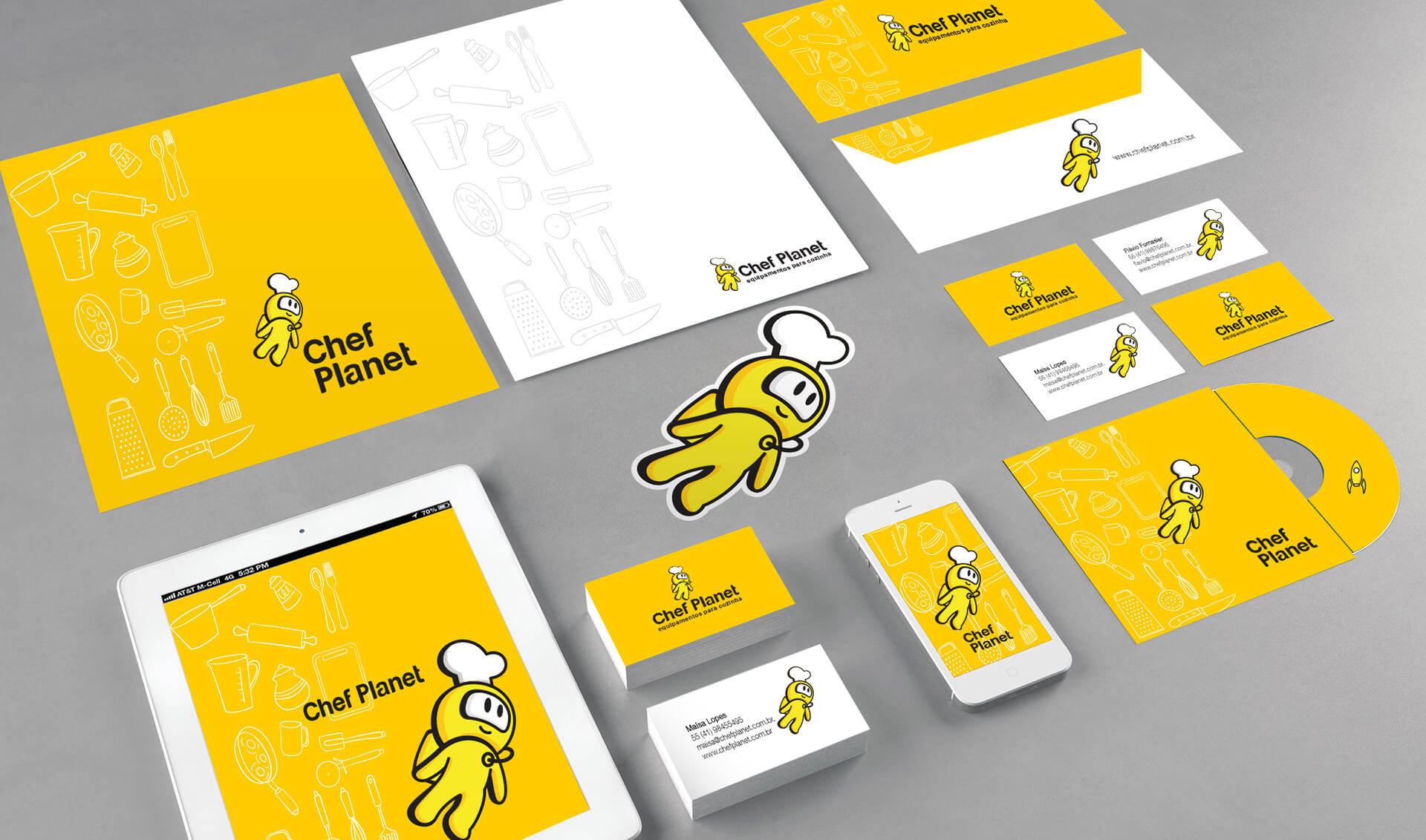 Branding Chef Planet - Pontodesign - Papelaria