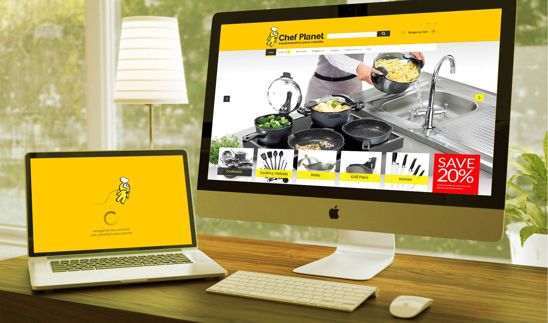 Branding Chef Planet - Pontodesign - Identidade para site