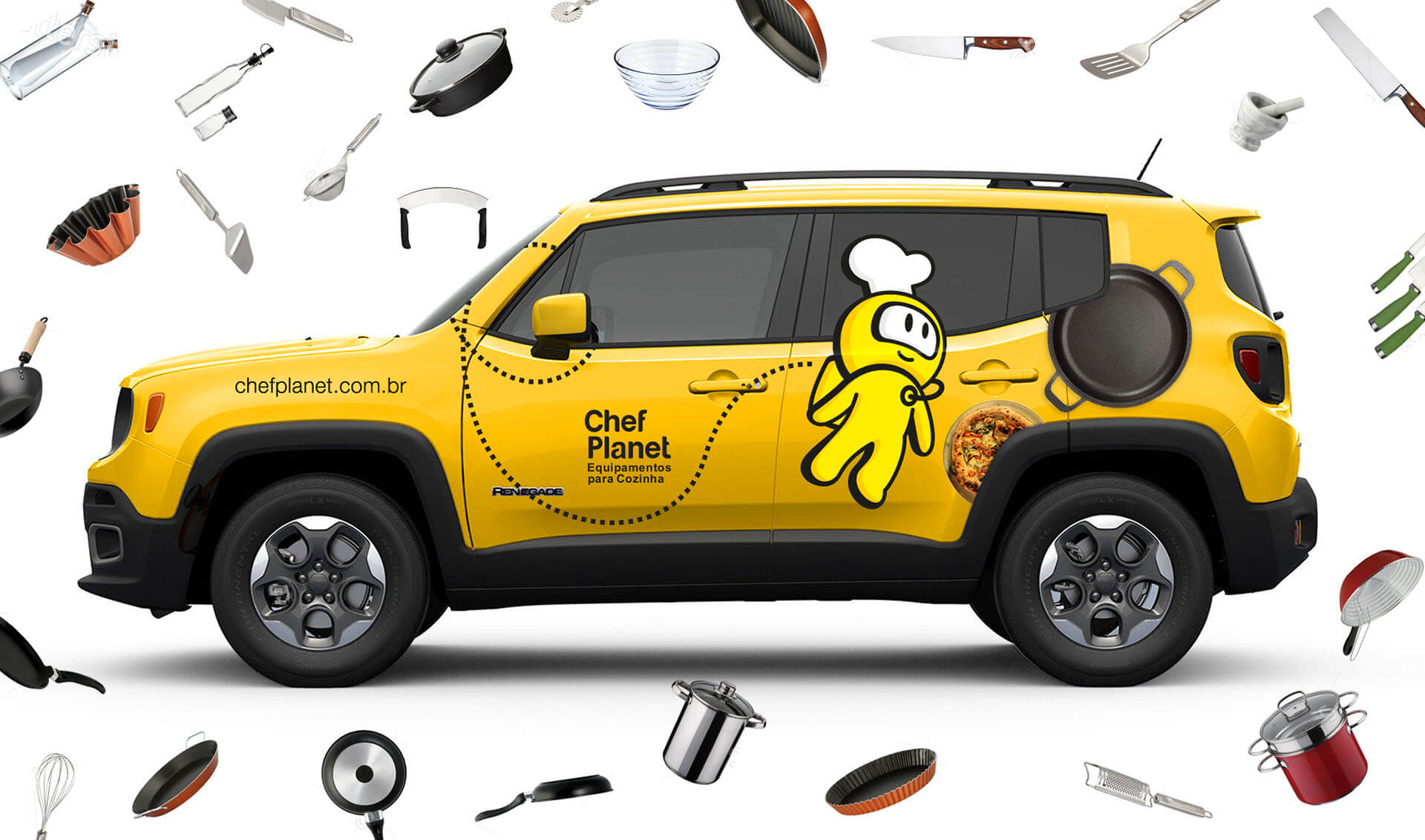 Branding Chef Planet - Pontodesign - Frota