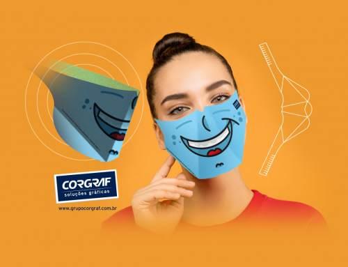 Remédio 3 contra o Coronavírus: Máscaras Descartáveis da Corgraf!